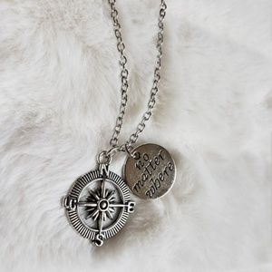 No matter where compass rose necklace NEW